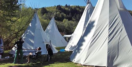Kanuverleih Oberlahn Übernachtung Tipi Schulklassen Jugendfahrten
