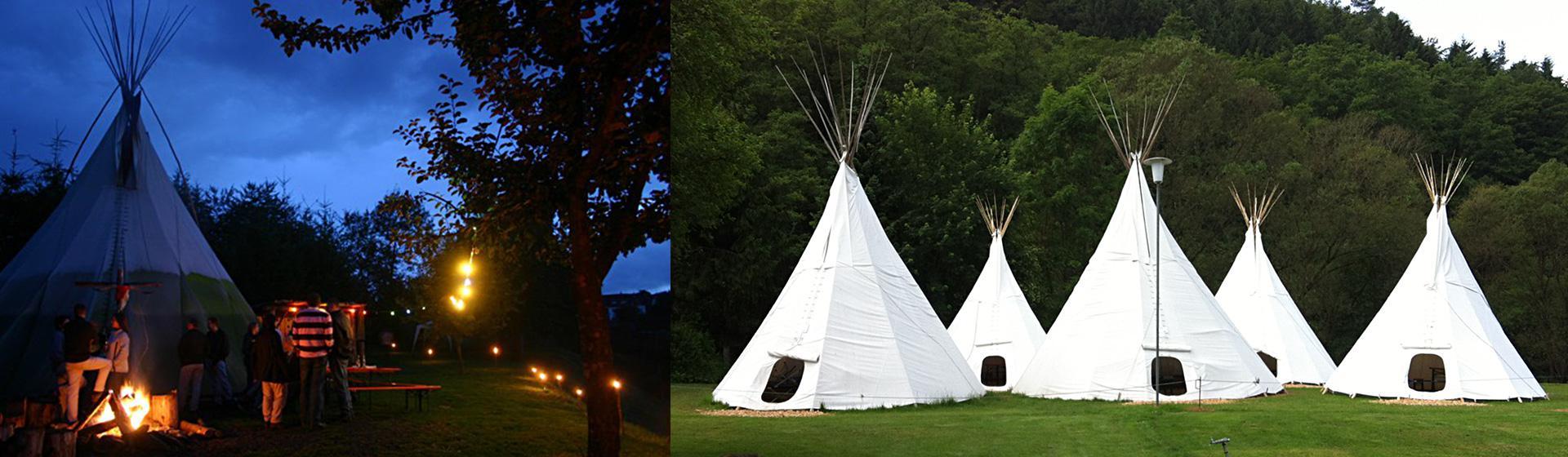 Übnachtung im Indianer Tipi Camp